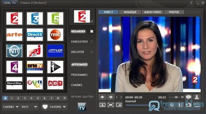 Disposez gratuitement de plus de 167 chaîne tv